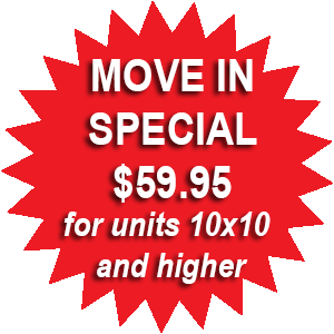 Move in special $59.95 for 10x10
